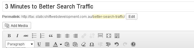 better search traffic through URL optimisation
